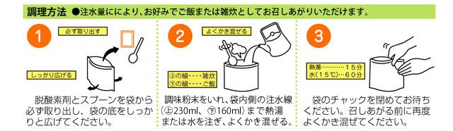 アルファ化米 カレーご飯調理方法